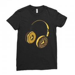 headphone donut Ladies Fitted T-Shirt | Artistshot