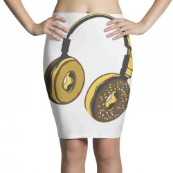 headphone donut Pencil Skirts | Artistshot
