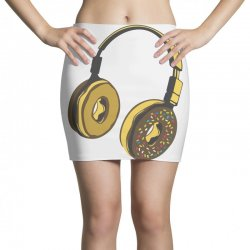 headphone donut Mini Skirts | Artistshot