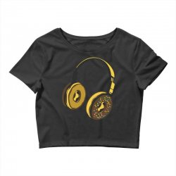 headphone donut Crop Top | Artistshot