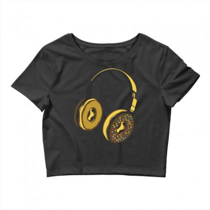 Headphone Donut Crop Top Designed By Daraart
