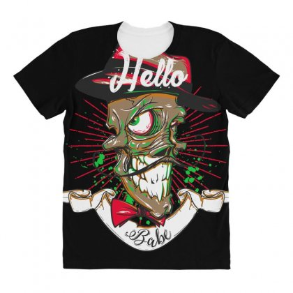 Hello Babe! All Over Women's T-shirt Designed By Daraart