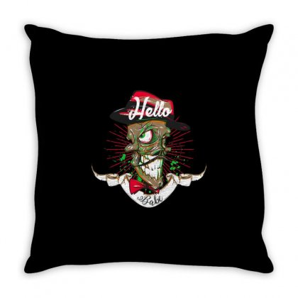 Hello Babe! Throw Pillow Designed By Daraart