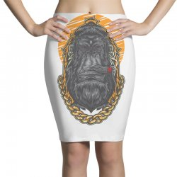 hipster gorilla smoking cigar Pencil Skirts | Artistshot