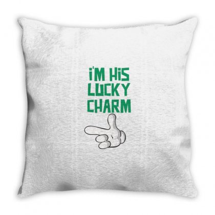 His Lucky Charm Throw Pillow Designed By Daraart