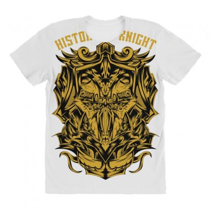 History Knight All Over Women's T-shirt Designed By Daraart