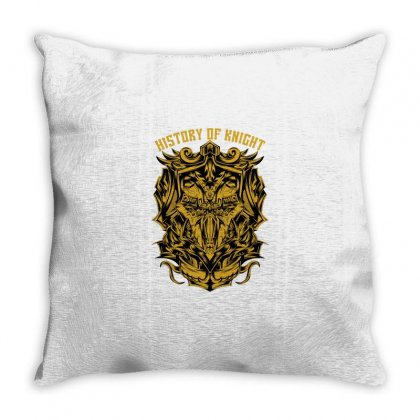 History Knight Throw Pillow Designed By Daraart