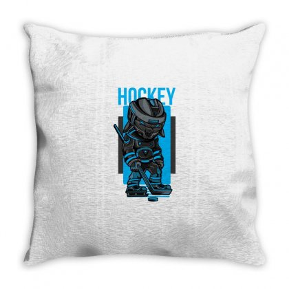 Hockey Game Throw Pillow Designed By Daraart