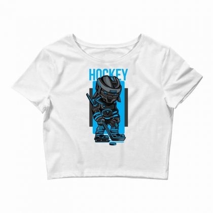 Hockey Game Crop Top Designed By Daraart
