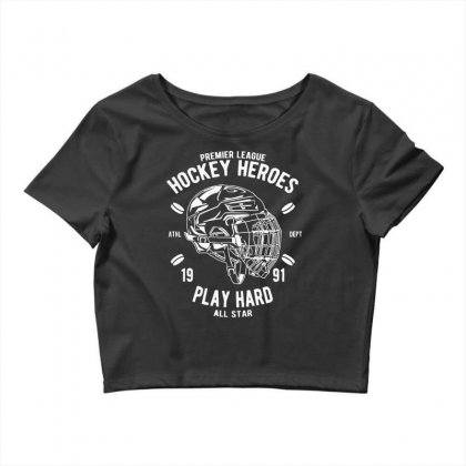 Hockey Heroes Crop Top Designed By Daraart