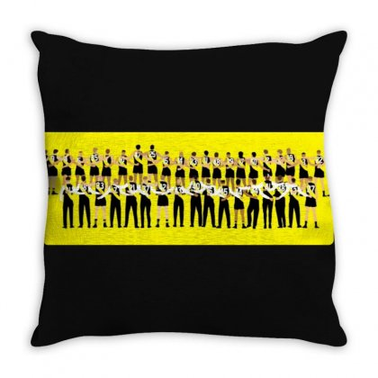 Tigers Together Afl Logo Throw Pillow Designed By Donaagnesia