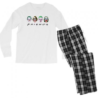 Joker Friends   For Light Men's Long Sleeve Pajama Set Designed By Meganphoebe