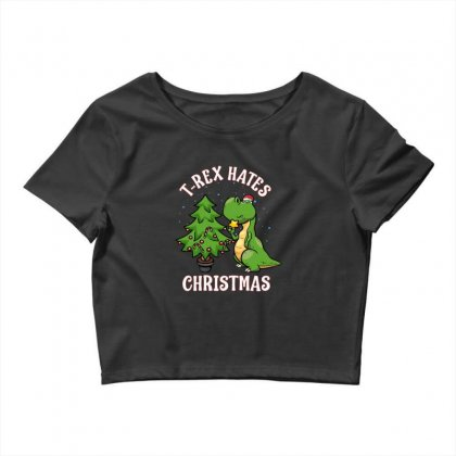 T Rex Hates Christmas Crop Top Designed By Donaagnesia
