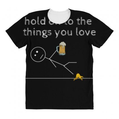 Hold On All Over Women's T-shirt Designed By Daraart