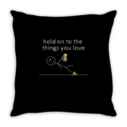 Hold On Throw Pillow Designed By Daraart