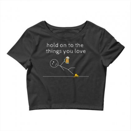 Hold On Crop Top Designed By Daraart