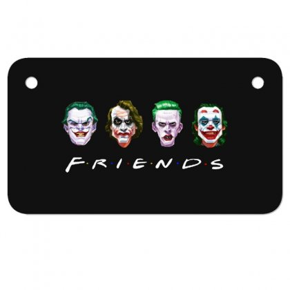 Joker Friends   For Dark Motorcycle License Plate Designed By Meganphoebe