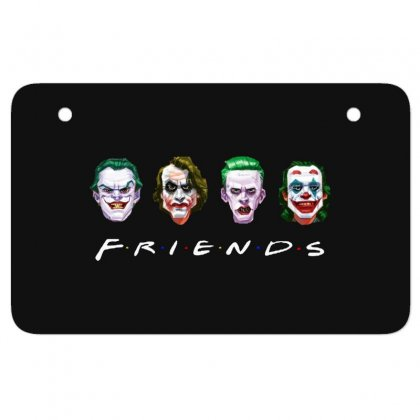 Joker Friends   For Dark Atv License Plate Designed By Meganphoebe