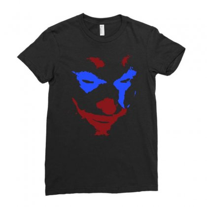 Funny Joker Face Ladies Fitted T-shirt Designed By Meganphoebe