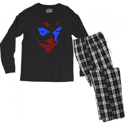 Funny Joker Face Men's Long Sleeve Pajama Set Designed By Meganphoebe