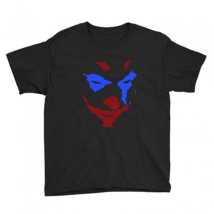 Funny Joker Face Youth Tee Designed By Meganphoebe
