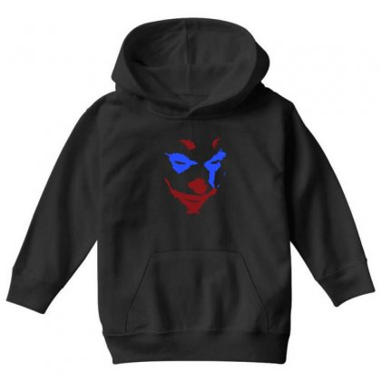 Funny Joker Face Youth Hoodie Designed By Meganphoebe
