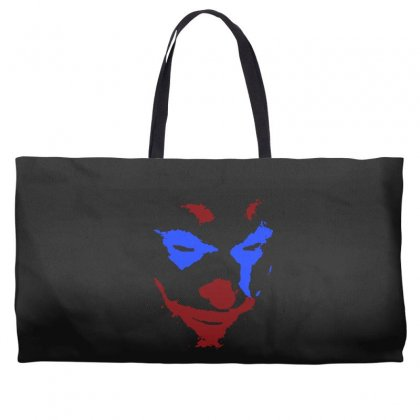 Funny Joker Face Weekender Totes Designed By Meganphoebe