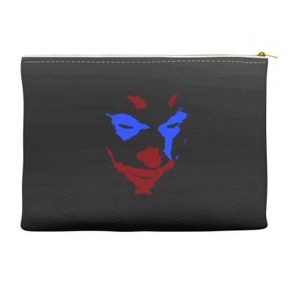 Funny Joker Face Accessory Pouches Designed By Meganphoebe