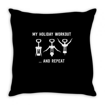 Holiday Workout Throw Pillow Designed By Daraart