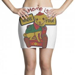 home is where your dog is Mini Skirts | Artistshot