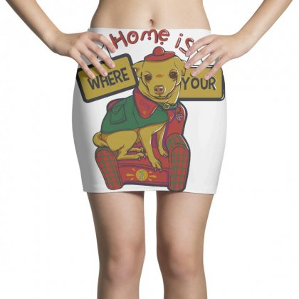 Home Is Where Your Dog Is Mini Skirts Designed By Daraart