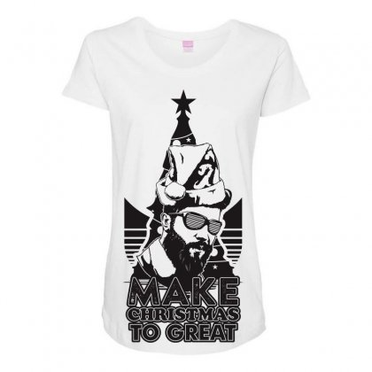 Christmas Party Maternity Scoop Neck T-shirt Designed By Ca Si Kancil