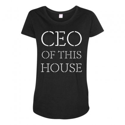 Household Ceo Maternity Scoop Neck T-shirt Designed By Daraart