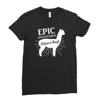 Alpaca Bag Funny Ladies Fitted T-shirt Designed By Erryshop