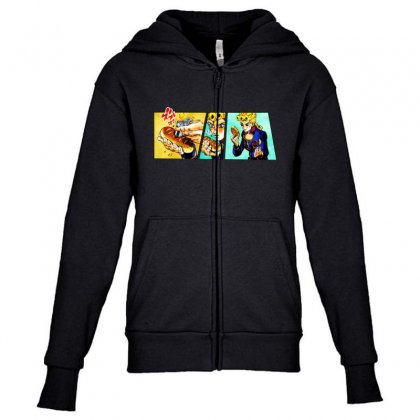 Giorno's Bizarre Youth Zipper Hoodie Designed By Meganphoebe