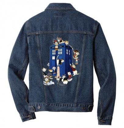 Funny Doctor Meow Men Denim Jacket Designed By Meganphoebe