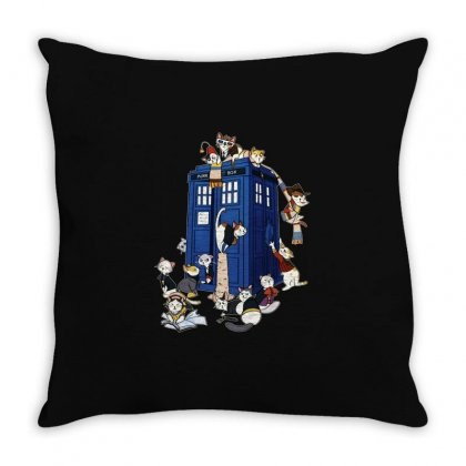 Funny Doctor Meow Throw Pillow Designed By Meganphoebe