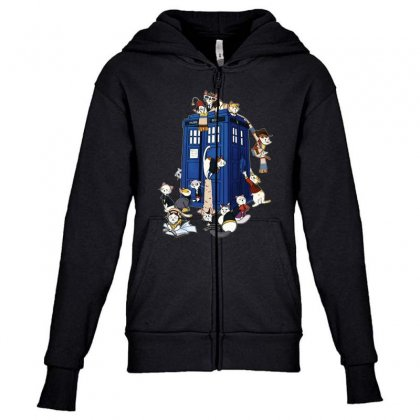 Funny Doctor Meow Youth Zipper Hoodie Designed By Meganphoebe