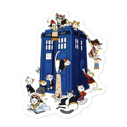 Funny Doctor Meow Sticker Designed By Meganphoebe