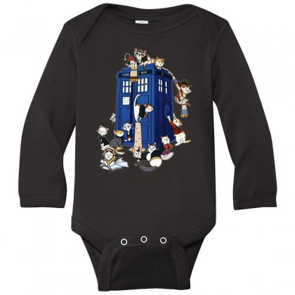 Funny Doctor Meow Long Sleeve Baby Bodysuit Designed By Meganphoebe