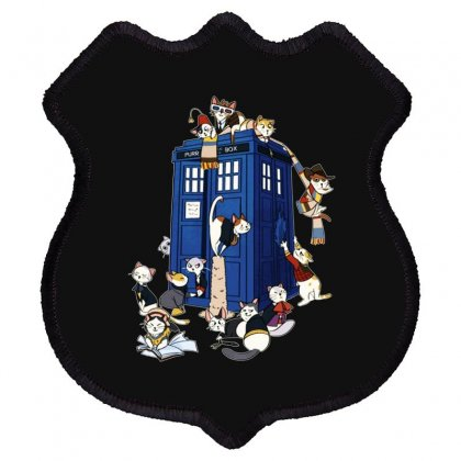 Funny Doctor Meow Shield Patch Designed By Meganphoebe