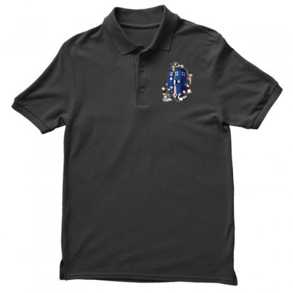 Funny Doctor Meow Men's Polo Shirt Designed By Meganphoebe