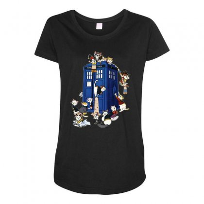 Funny Doctor Meow Maternity Scoop Neck T-shirt Designed By Meganphoebe