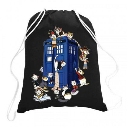 Funny Doctor Meow Drawstring Bags Designed By Meganphoebe