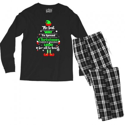Elf Christmas The Best Way To Spread Christmas Cheer Men's Long Sleeve Pajama Set Designed By Meganphoebe