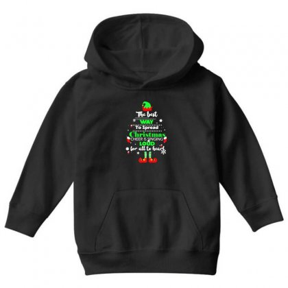 Elf Christmas The Best Way To Spread Christmas Cheer Youth Hoodie Designed By Meganphoebe