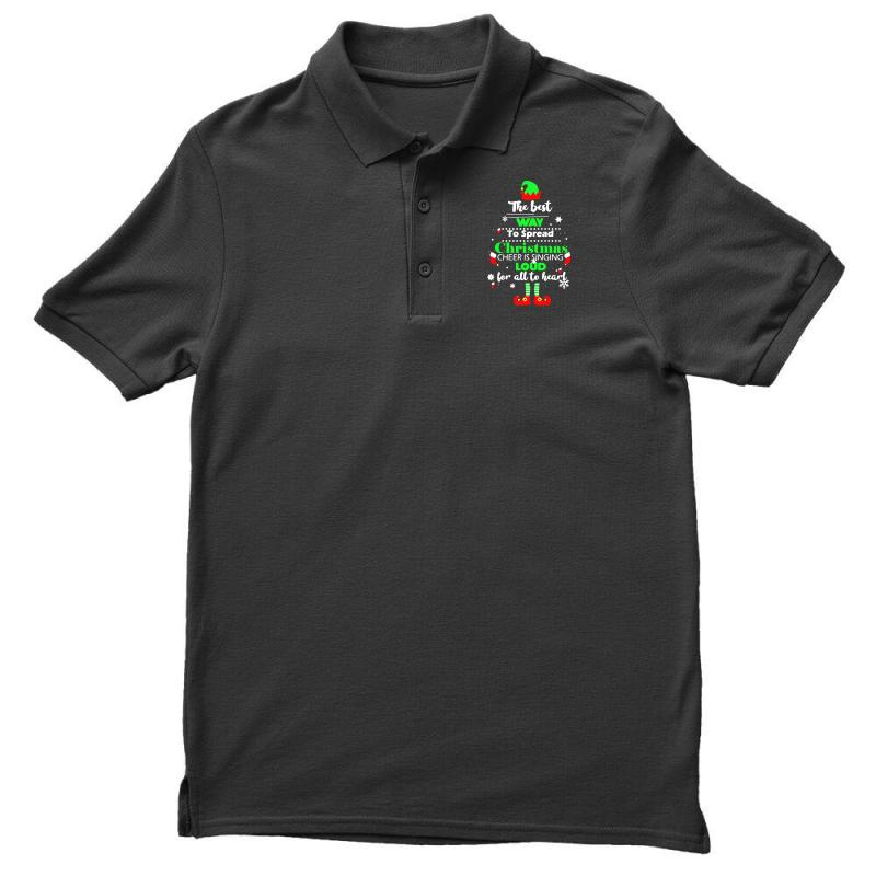 Elf Christmas The Best Way To Spread Christmas Cheer Men's Polo Shirt | Artistshot