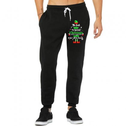 Elf Christmas The Best Way To Spread Christmas Cheer Unisex Jogger Designed By Meganphoebe