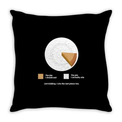 I Ate The Pie Throw Pillow Designed By Daraart