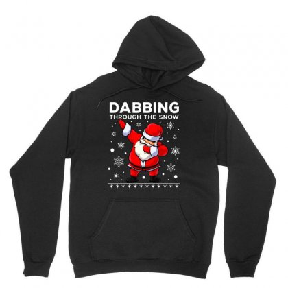 Dabbing Through The Snow Santa Dab Christmas Unisex Hoodie Designed By Meganphoebe